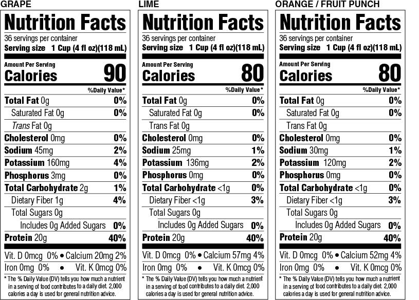 Gelatein 20 Nutritional Information