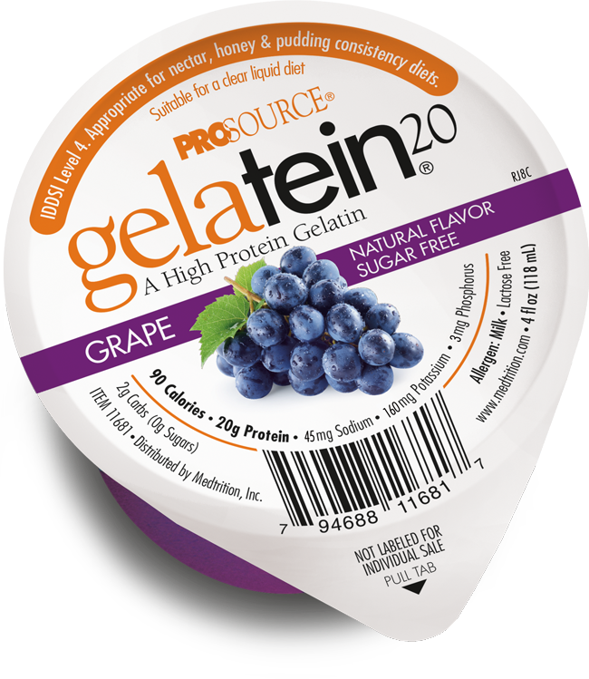 Gelatein 20 Grape, a high protein gelatin.